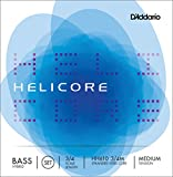 upright double bass 3 4 - D'Addario Helicore Hybrid Bass String Set, 3/4 Scale, Medium Tension
