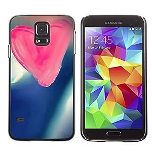 TopCaseStore / la caja del caucho duro de la cubierta de protección de la piel - Love Pink Love - Samsung Galaxy S5 SM-G900