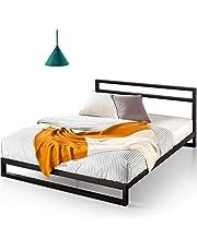Zinus 7 Inch Platforma Bed Frame with Headboard / Mattress Foundation / Boxspring Optional / Wood Slat Support, King