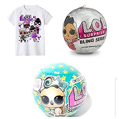 Surprise LOL Bundles 1 Bling Ball, 1 Pet Supreme Luxe !00% Authentic and 1 T-Shirt Size 5/6
