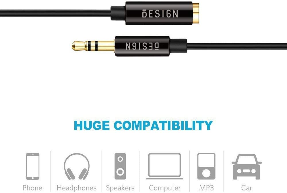 Besmelody Headphone Splitter for Computer 3.5mm Female to 2 Dual 3.5mm Male Headphone Mic Audio Y Splitter Cable Smartphone Headset to PC Adapter