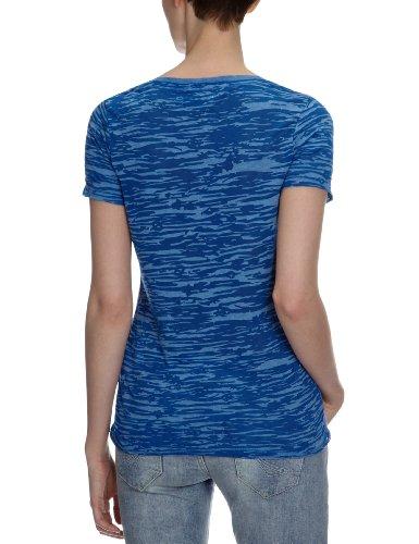 Only - Camiseta con cuello redondo para mujer Azul (Nautical Blue)