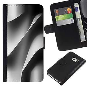 Samsung Galaxy S6 EDGE / SM-G925(NOT FOR S6!!!) Modelo colorido cuero carpeta tirón caso cubierta piel Holster Funda protección - Building Architecture Paper Engineering