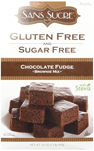 (Sans Sucre Gluten Free and Sugar Free Chocolate Fudge Brownie Mix, 16 Ounce)