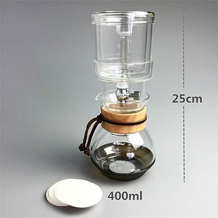 COKFEB Filtro de café Cafetera de Goteo de Agua 400 ml de café ...