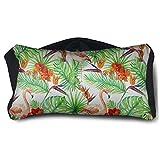 Facial Yoga Reflexology - Satin Eye Pillow Cover Flamingo Washable Removable Cover Sleep Eyes Mask Pillow