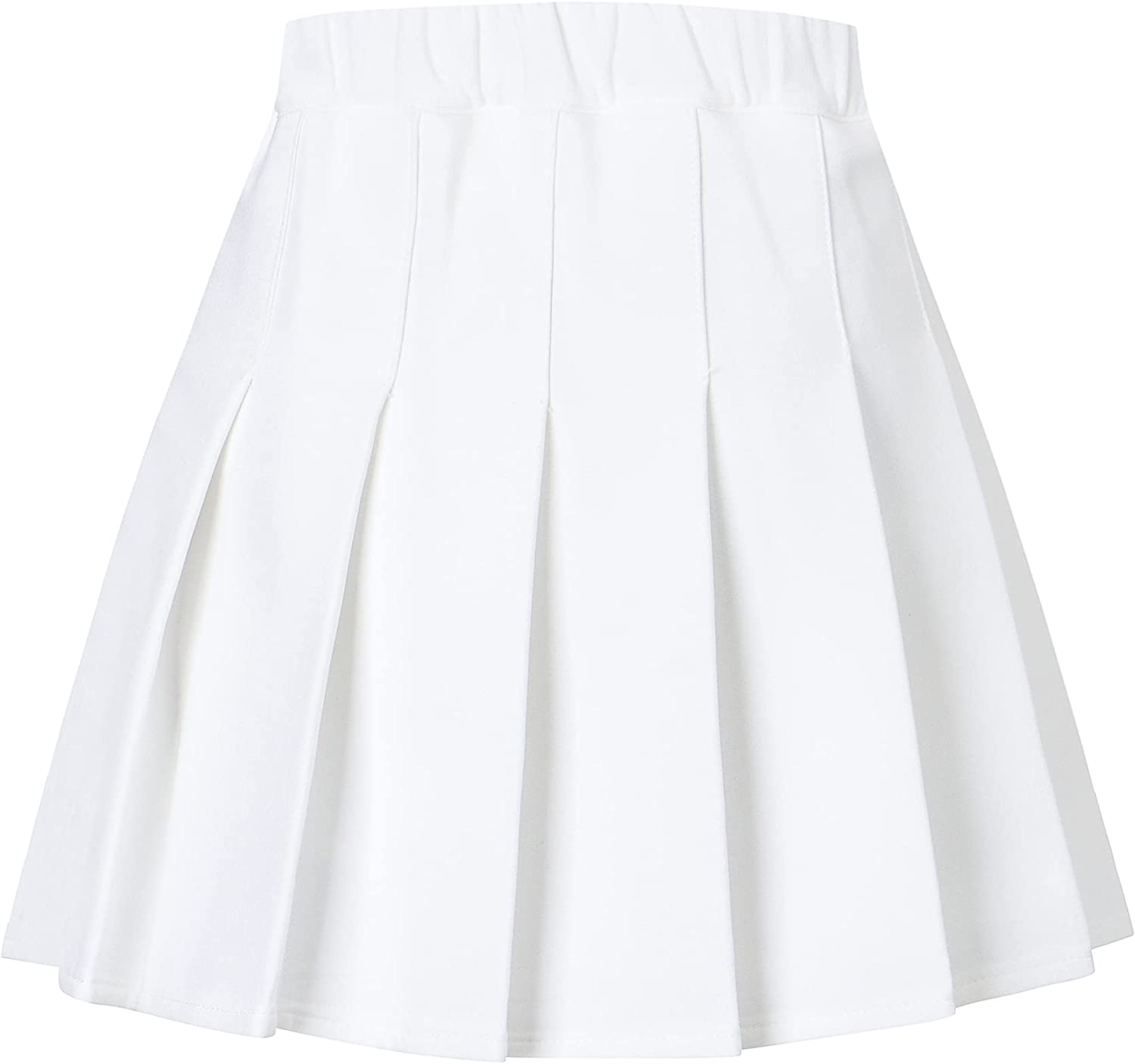 SANGTREE Girls Women's Pleated Skirt with Comfy Stretchy Band, 2 Years - US 2XL: Clothing