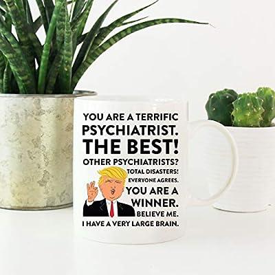 Andaz Press Funny President Donald Trump 11oz  Coffee Mug Gag Gift,  Terrific Psychiatrist, 1-Pack, Ceramic Christmas Birthday Drinking Cup  Republican