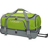 Traveler's Choice 30 in. Drop-Bottom Green Rolling Duffel