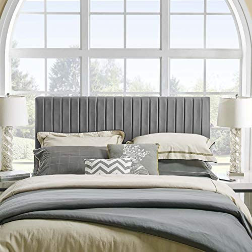 Modway Keira Channel Tufted Performance Velvet Upholstered King Headboard