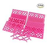 Betan 9pcs Cake Fondant Embossing Mould Cookie Icing Cutters Mold Baking Tools (Pink)