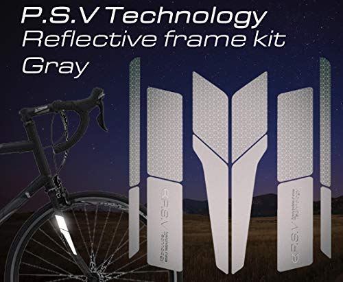 ATPC Japan Reflective Frame Kit A Set of Reflective Labels corresponding to All Kinds of Bicycle Frames Improve Safety of Night Driving of Road Bike, MTB, P.S.V Technology (Gray)