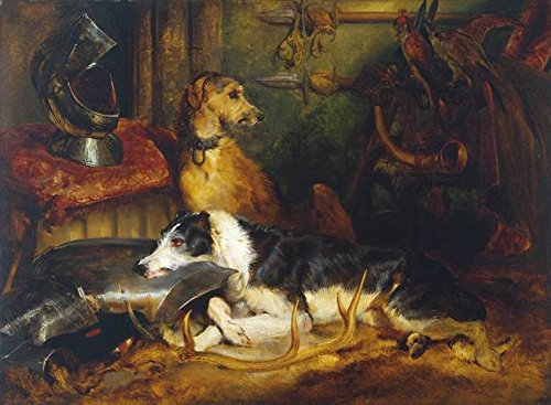 Wall Art Print entitled Sir Edwin Henry Landseer A Scene At Abbotsford Exh by Celestial Images | 10 x 7