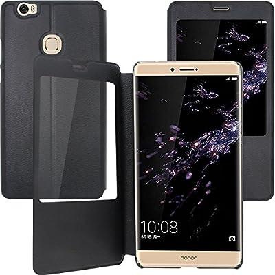 Huawei Honor Note 8 Funda,Anzhao Flip Funda [View Window] con Pata ...