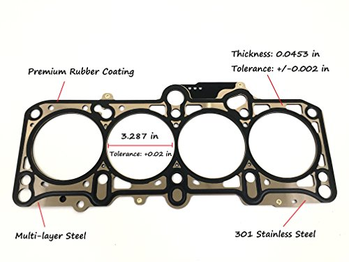 ERISTIC EG1653 MLS Cylinder Head Gasket For Volkswagen Beetle Golf Jetta 2.0L L4 Engine - Golf Cylinder Head