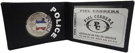 Porte-cartes de la police nationale en cuir
