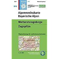 Wettersteingebirge, Zugspitze: Wegmarkierung, Ski- und Schneeschuhrouten (Alpenvereinskarten)