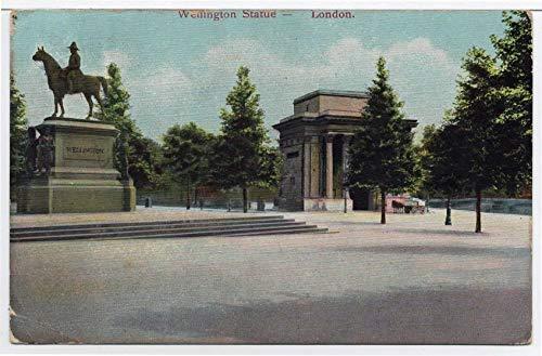 Wellington Statue Memorial, London, England Vintage Original Postcard #4250 - October 31, 1904