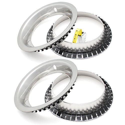 OxGord Trim Rings for Chevy GM (Pack of 4) 15 Inch Wheel Hub Chrome Beauty Ring Covers ()