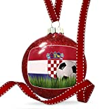 Christmas Decoration Soccer Team Flag Croatia Ornament
