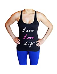 Live Love Life Tank Top - Comfortable racerback to wear at Gym, Yoga, workout and crossfit
