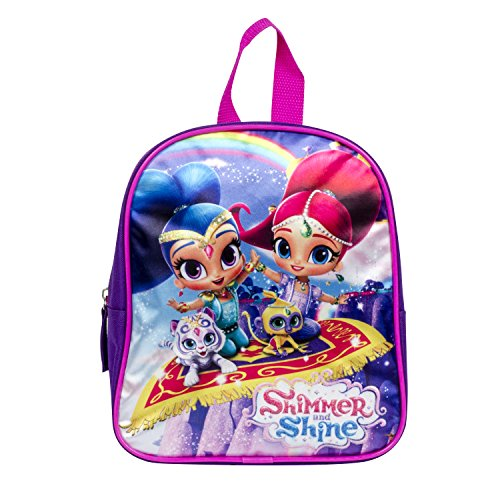 Girls Nickelodeon Shimmer and Shine Dome Purple Backpack 12 inch Bag (Shine Pack)