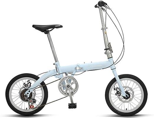 Paseo Bicicleta Bicicleta Plegable Bicicleta Portátil Ultraligera ...