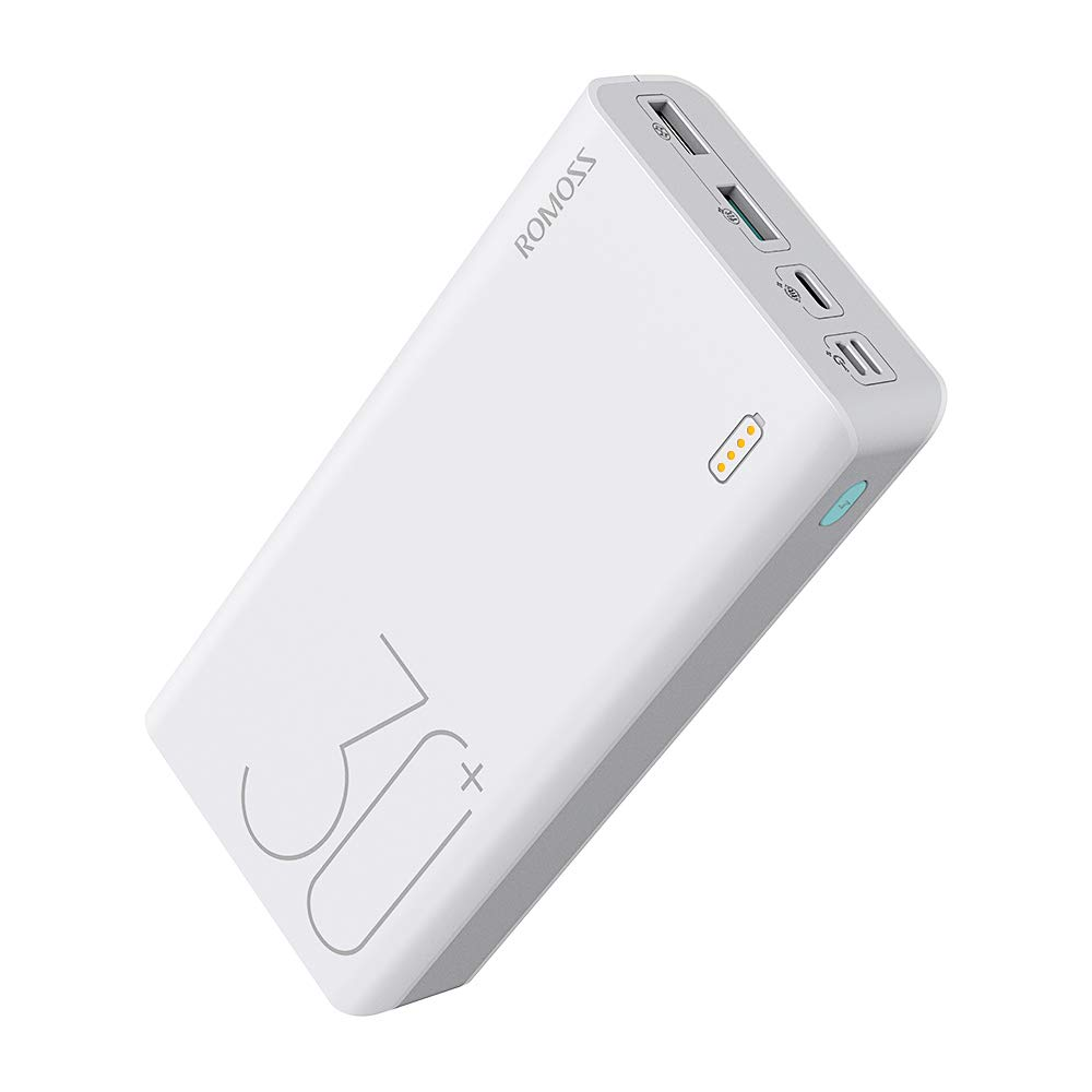 ROMOSS 30000mAh 18W Fast Charge Type-C PD Portable Charger Sense 8+, 3 Outputs & 3 Inputs Power Bank Compatible with iPhone Xs, iPad Pro (Not Support Fast Charge on Samsung S9 & Above Models) by ROMOSS