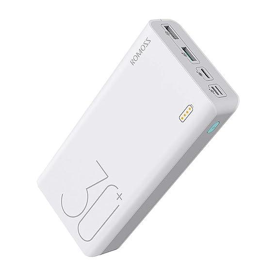 Amazon.com: ROMOSS 30.000 mAh Tipo C PD Cargador Portátil ...