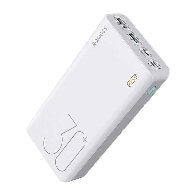 power bank 30000 mah  : ROMOSS 30000mAh Type-C PD Portable Charger Sense 8+, 3 ...
