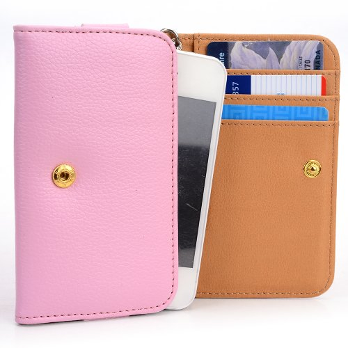 Travel Leather Case Apple (Apple MKN52LL/A iPod nano  Fashion PU Leather Phone Case [Wallet] Wrist-let | PINK)