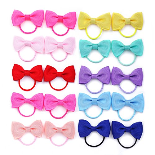 belle-beau-baby-girls-bow-elastic-tiesponytail-hair-bands-hair-elastics-value-set-c