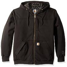 Carhartt Men's Rain Defender Rockland Quilt Lined Hooded Sweatshirt, black, Small