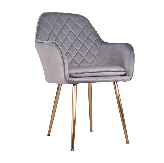 Amazon.com - Dining Chairs Metal Legs Velvet Cushions Living ...