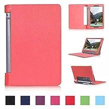 Tsmine Lenovo Yoga Tab 3 10 Tablet Flip Case - Premium Slim Magnetic Smart Cover Folio Protective PU Leather Case Stand for Lenovo Yoga Tab 3 10.1 (NOT Fit Yoga Tab 3 Pro 10), Red