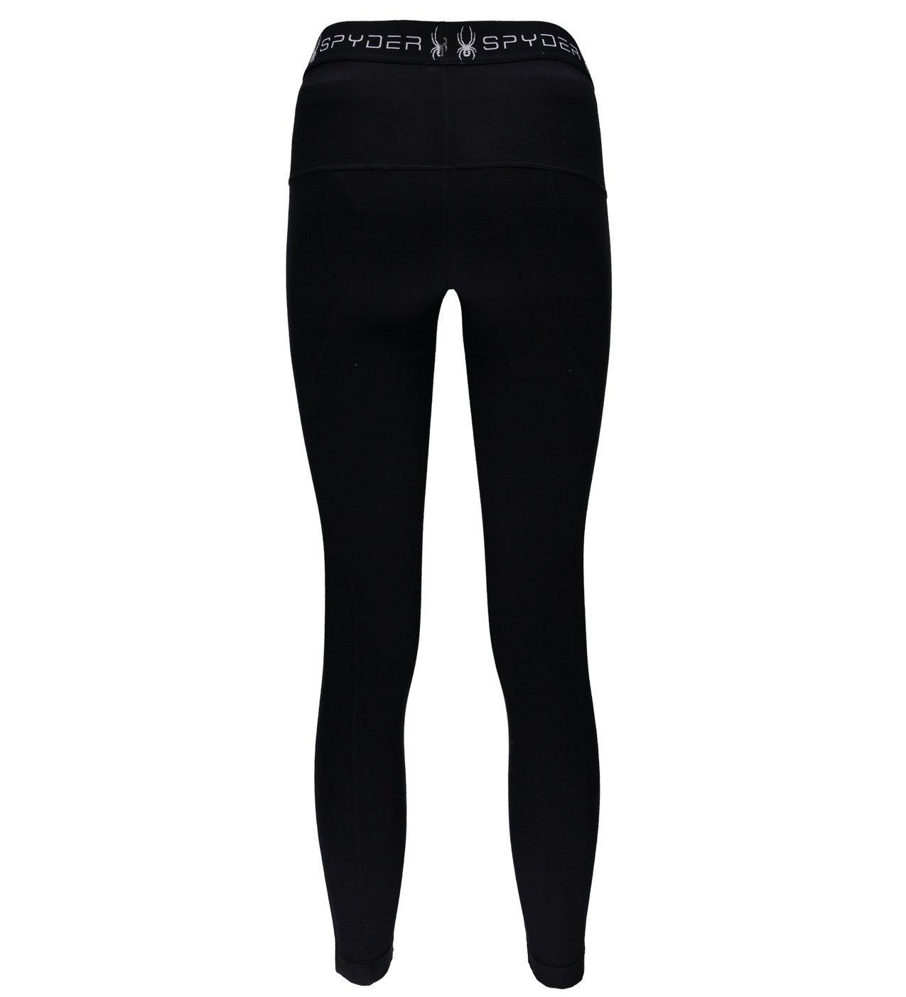 Spyder Women's Huron Baselayer Pant, Black/Black, Small