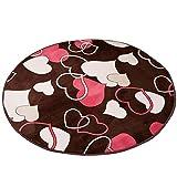 Children's crawler round mat / round carpet / computer chair turn chair blanket / round bench basket hoist mat / bedroom bedside non-slip washed carpet ( Size : Diameter 200cm )