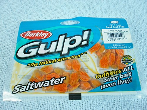 NEW BERKLEY GULP! SALTWATER 1/2 Sand Crab Flea A/O (24 to28/bag)(KVSFC#1R0118) - Gulp Sand Crab