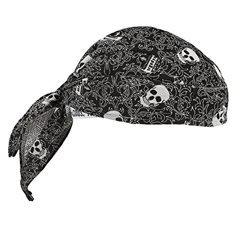 Ergodyne Chill-Its 6615 Absorptive Moisture-Wicking Dew Rag, Skulls (Desert Digital Bandana)