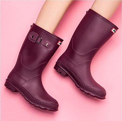 Zapatos de Botas mujer lluvia para de de impermeables Martin Botas para ocio de mujer lluvia agua el goma Cubrezapatillas moda Botas de A para Zapatos antideslizante de Zapatos exterior antirresbaladizos SpqwvrOS