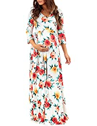 Women's Faux Wrap Maternity Dress With Adjustable Belt by