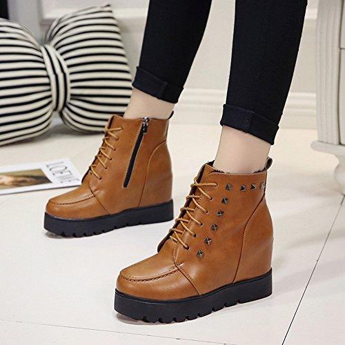 nackte Stiefel Dicker Martin Boots Stiefel Stiefel Britische Boden Kurze Students EUR35 Damen Kaschmir Kurze dunkelbraun wqxtI0dpn
