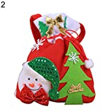 856store Funny Lovely Snowman Deer Santa Claus Children Christmas Gift Candy Apple Cloth Bag - Snowman