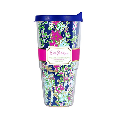 Lilly Pulitzer 24 oz Insulated Thermal Tumbler with Lid Sout