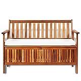 Festnight Outdoor Patio Garden Storage Bench Deck