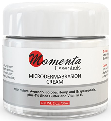 #1 Microdermabrasion Cream Scrub - Best Face Cream Exfoliating Treatment - Natural - At Home Cream - Removes Dead Skin Cells - Minimizes Pores - Fine Lines - Acne Scars - Blackheads - Anti Aging - Contains Jojoba oil - Shea butter -Vitamin E. Paraben Free - 'Peace Of Mind' Guarantee!