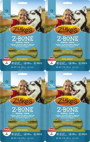 - Zuke's Z-Bone Dental Chew w/Apples, Regular, 32 Count (Pack of 4)