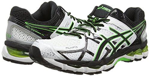 Flash Black de 21 Blanc 0190 White Chaussures Entrainement Running Gel Asics Kayano Homme Green qIvxwPfwU