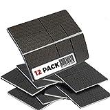 SlipToGrip Non Slip Furniture Pad Grippers - Stops Slide - Multi Size (12 Pads) - Make 4', 1', 2', etc.- Pre-Scored Multiple Sizes - 3/8' Felt Core - Anti Slip - No Nails, No Glue. Patent Pending