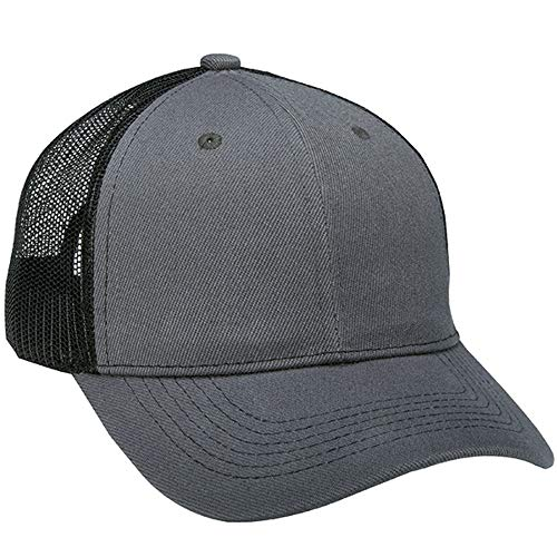 - 1 Dozen (12) Grey/Black Bulk Wholesale Twill/Mesh Trucker Hats by Paynter Enterprises LLC